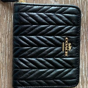 Coach Bags - AUTHENTIC COACH SMALL ZIP AROUND WALLET (QUILTED)